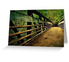 A long way to the other side of the bridge Greeting Card