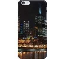 Melbourne at night iPhone Case/Skin