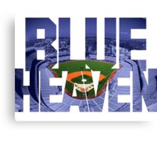 Dodger Blue Heaven Canvas Print