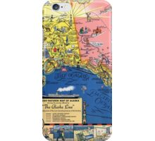 TRAVEL ALASKA FUN MAP 1934 iPhone Case/Skin