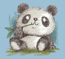 Panda that is eating bamboo Kids Clothes