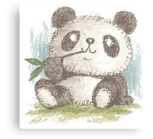 Panda that is eating bamboo Canvas Print
