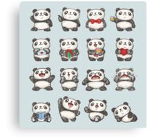 Various feeling of Panda Canvas Print
