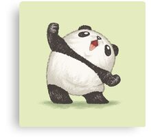 Panda's joy of the victory Canvas Print