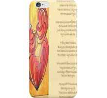 A Canvas Of My Love, My Heart, My Wife Greeting Card iPhone Case/Skin