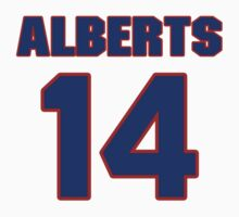 National baseball player Butch Alberts jersey 14 by imsport