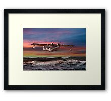 Catalina Flying Boat at Sunset (RAF Version) Framed Print