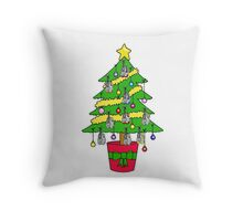 Christmas tree for runners. Throw Pillow