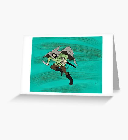 The Thief  Greeting Card