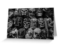 Lucha Libre Wrestling Mask Greeting Card