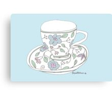 cup of tea (just drunk) Canvas Print