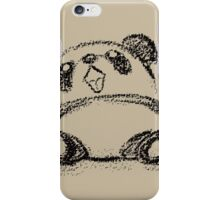 Panda sketch iPhone Case/Skin