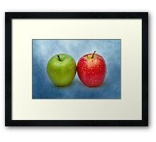 Green And Red Apples Framed Print