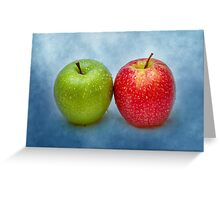 Green And Red Apples Greeting Card