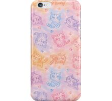 Chalk drawing of cats pattern iPhone Case/Skin