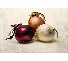Three Onions Photographic Print