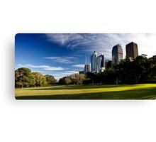 Sydney Skyline From Royal Botanical Garden Canvas Print