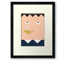 Minimal Sherlock Framed Print