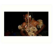 Fiji Warrior Art Print