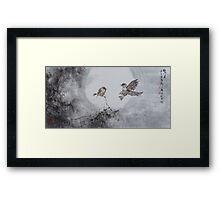 Midnight Birds Framed Print