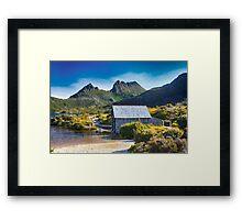 Boat House, Dove Lake, Tasmania Framed Print