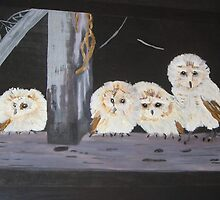 Baby Owls by victoriana