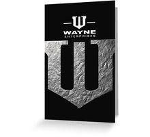Wayne Enterprises Greeting Card