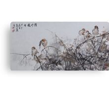 Chattering Canvas Print