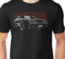 Mad Max Inspired Pursuit Special | Grey - Red Unisex T-Shirt