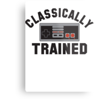 Gamer Nintendo Classically Trained Joystick Metal Print