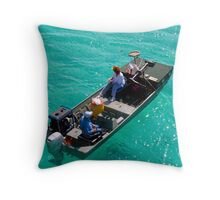 """John Boating"" Throw Pillow"