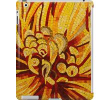 Sparkling, Intricate Golds and Yellows - a Floral Ceramic Tile Mosaic iPad Case/Skin