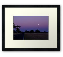 Moon rise in the Twilight Framed Print
