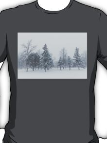Snowstorm - Tall Trees and Whispering Snowflakes T-Shirt
