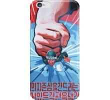 NORTH KOREA ANTI-USA PROPAGANDA POSTER PRINT iPhone Case/Skin