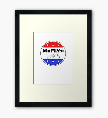 Vote Marty!  Save the Clock Tower! Framed Print