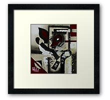 Blood and Bone #1 (Mixed Material Assemblage)- Framed Print