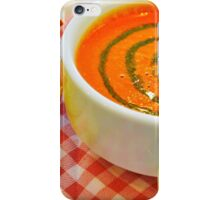 Tomato Soup with Basil  iPhone Case/Skin