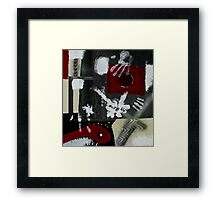 Blood and Bone #2 (Mixed Material Assemblage)- Framed Print