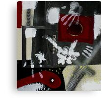 Blood and Bone #2 (Mixed Material Assemblage)- Canvas Print