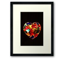 Stained Glass Heart Framed Print