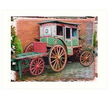 """""""Last Coach from Old Town"""" Art Print"""