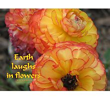 Earth Laughs Photographic Print
