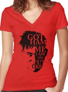 The Penguin - Quote (Version 2)   Women's Fitted V-Neck T-Shirt