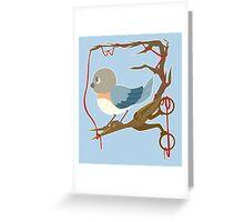 Twenty Birds with One Stone Greeting Card