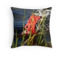 Dinnertime at the Pond Throw Pillow