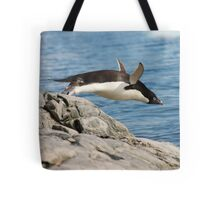 "Adelie Penguin ~ ""I Can Fly"" Tote Bag"