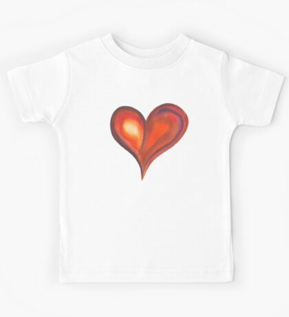 Colorful Abstract Heart Kids Tee