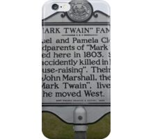 MARK TWAIN- HISTORICAL LAND MARK iPhone Case/Skin