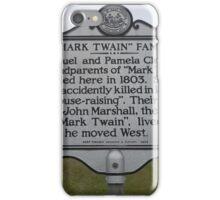 MARK TWAIN- HISTORICAL LAND MARK iPhone Case/Skin
